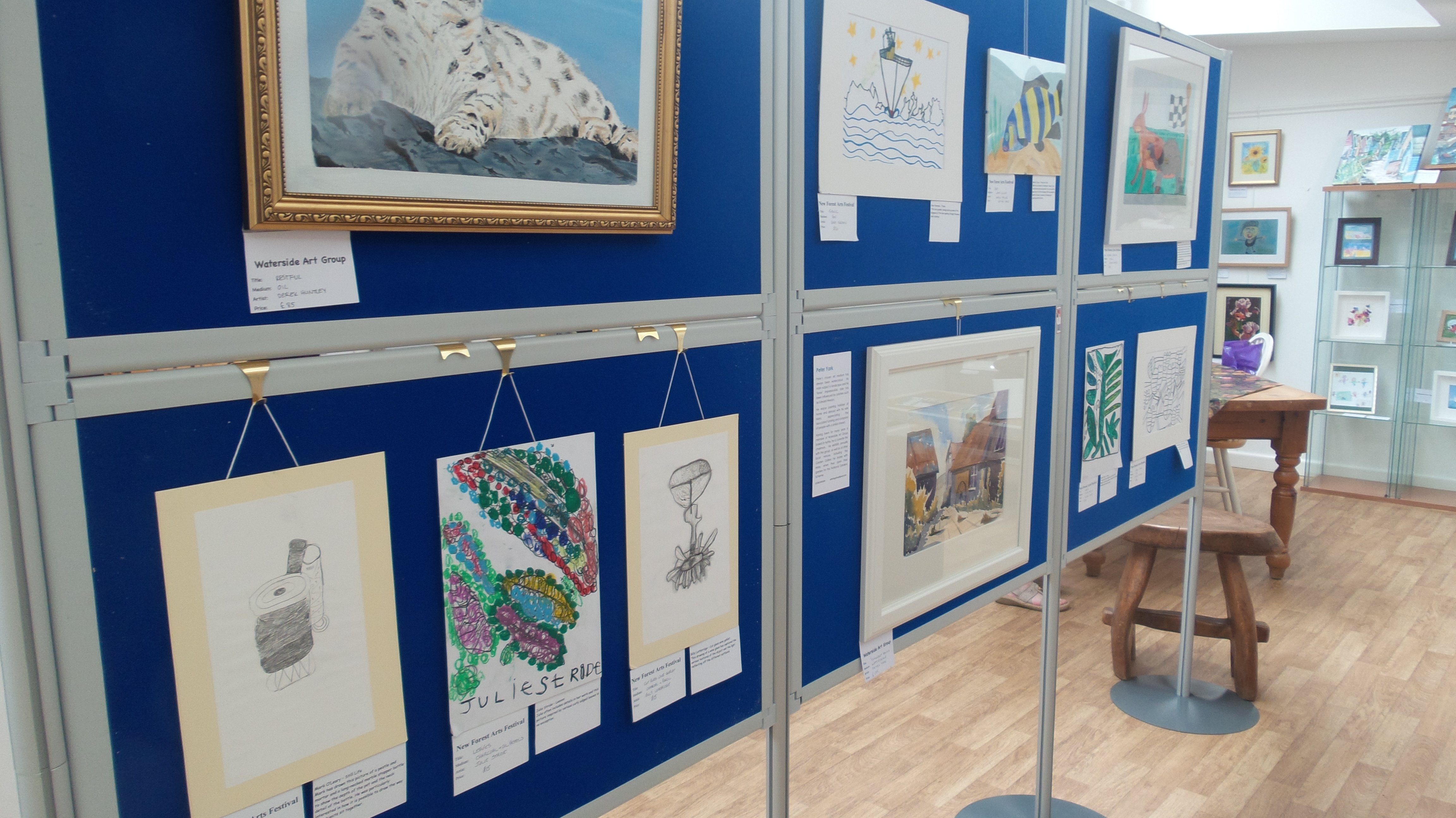 An exhibition of the artwork created at Furzey Gardens during the Festival.