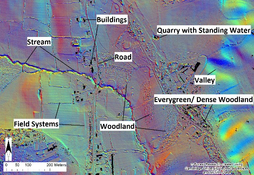LiDAR feature map labelled