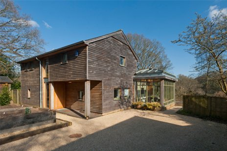 use of timber in a contemporary home