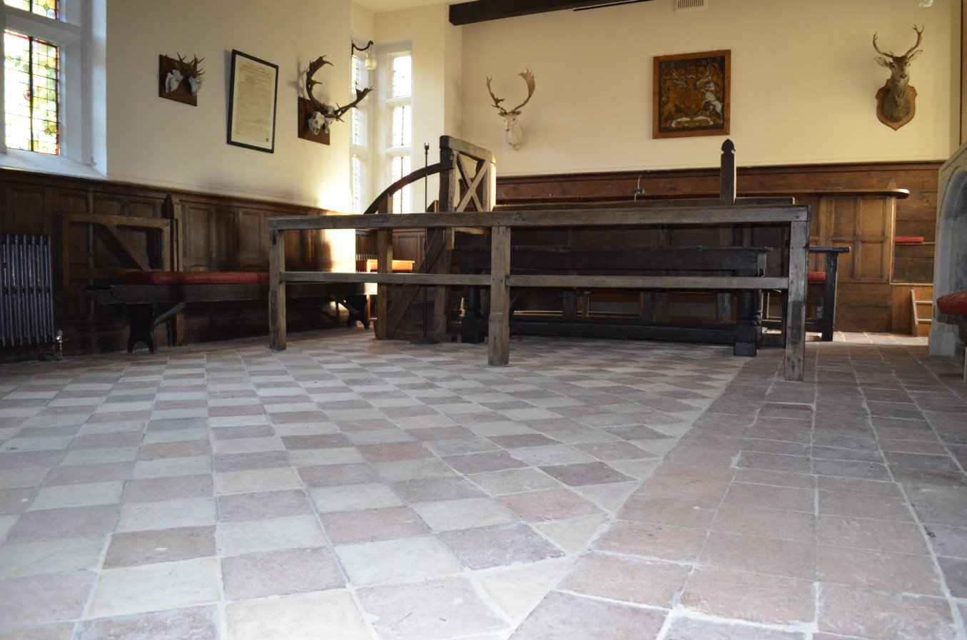 Verderers Hall after restoration work to the floor