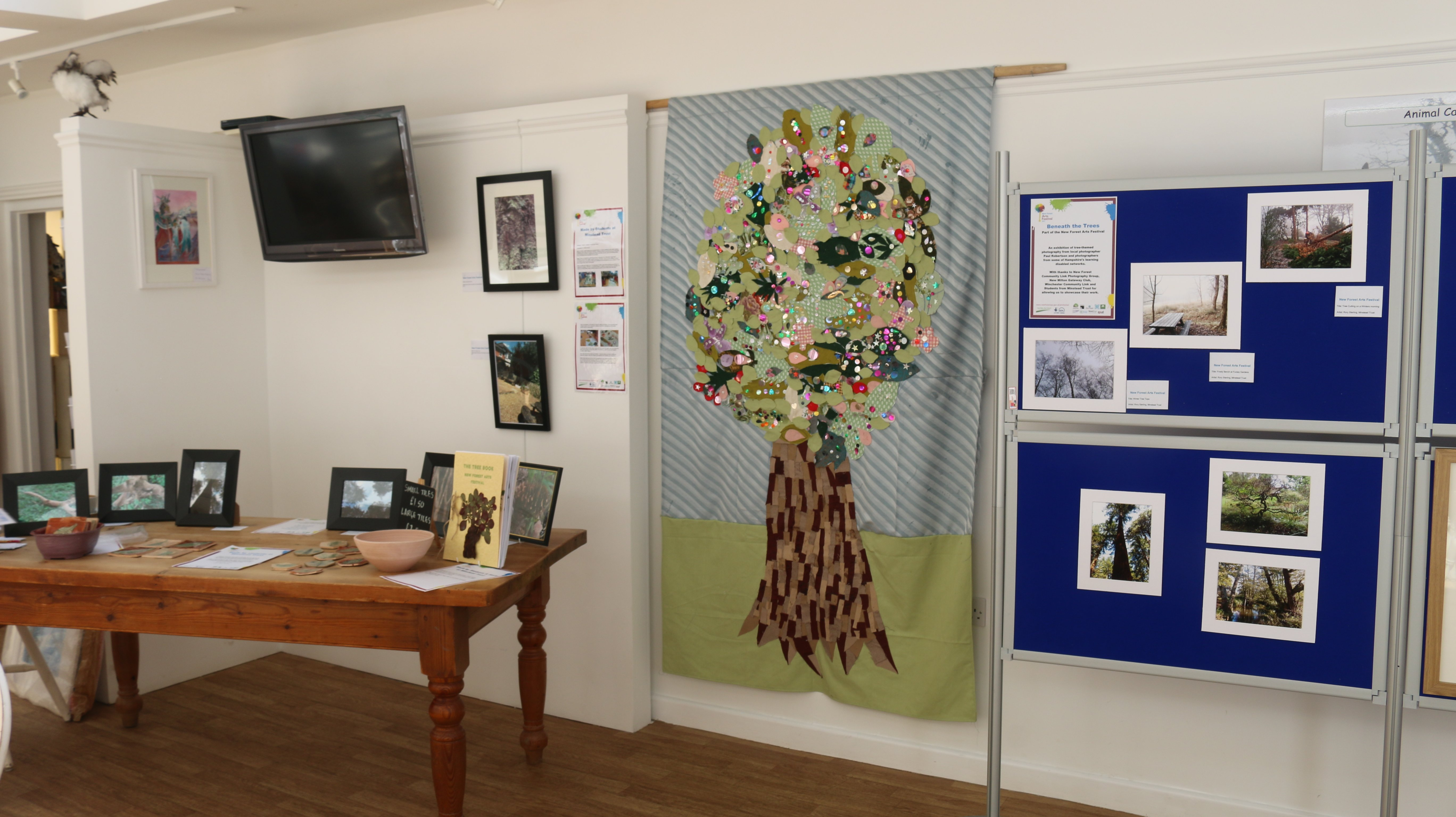 Exhibition at Furzey Gardens by students for the 2017 Arts Festival