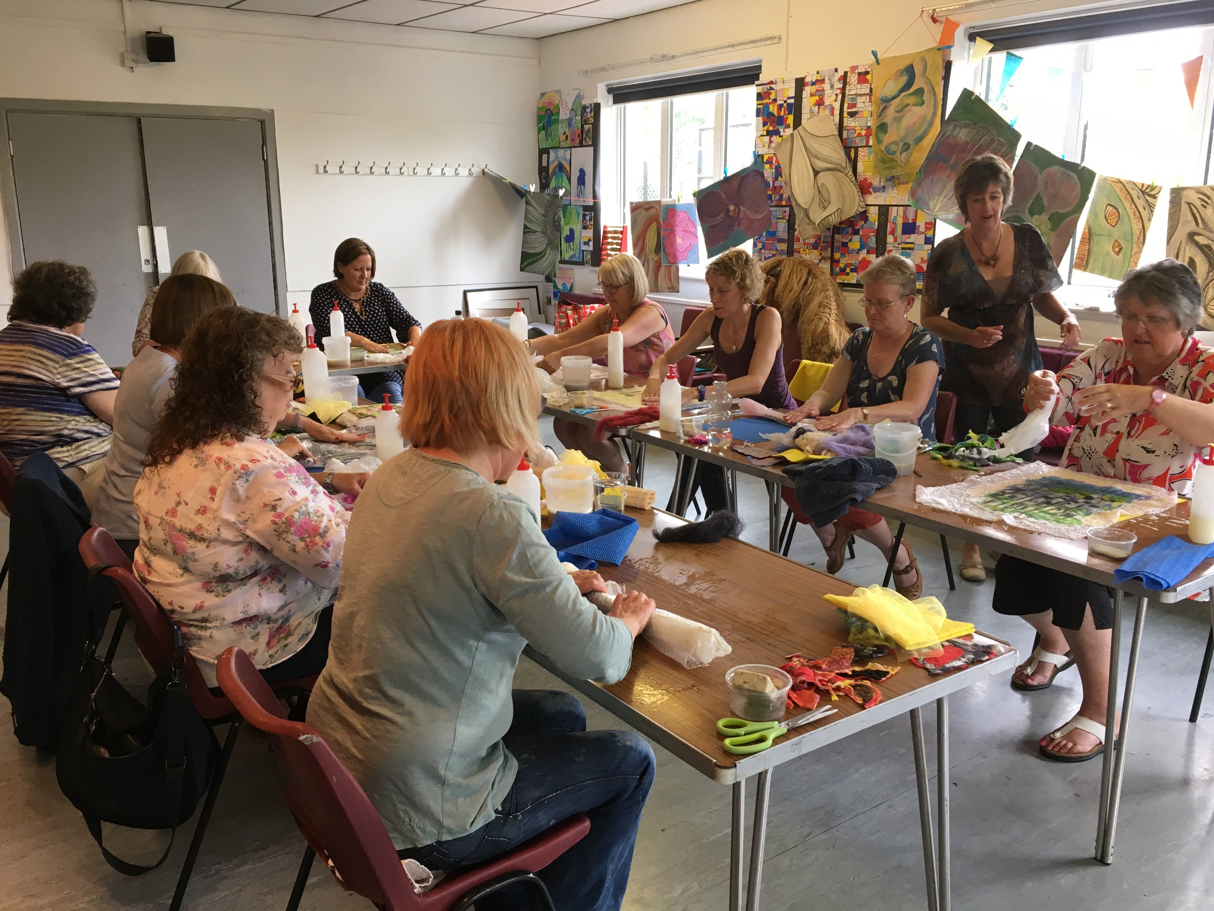Felt Workshop at Forest Arts Centre during the 2017 Arts Festival