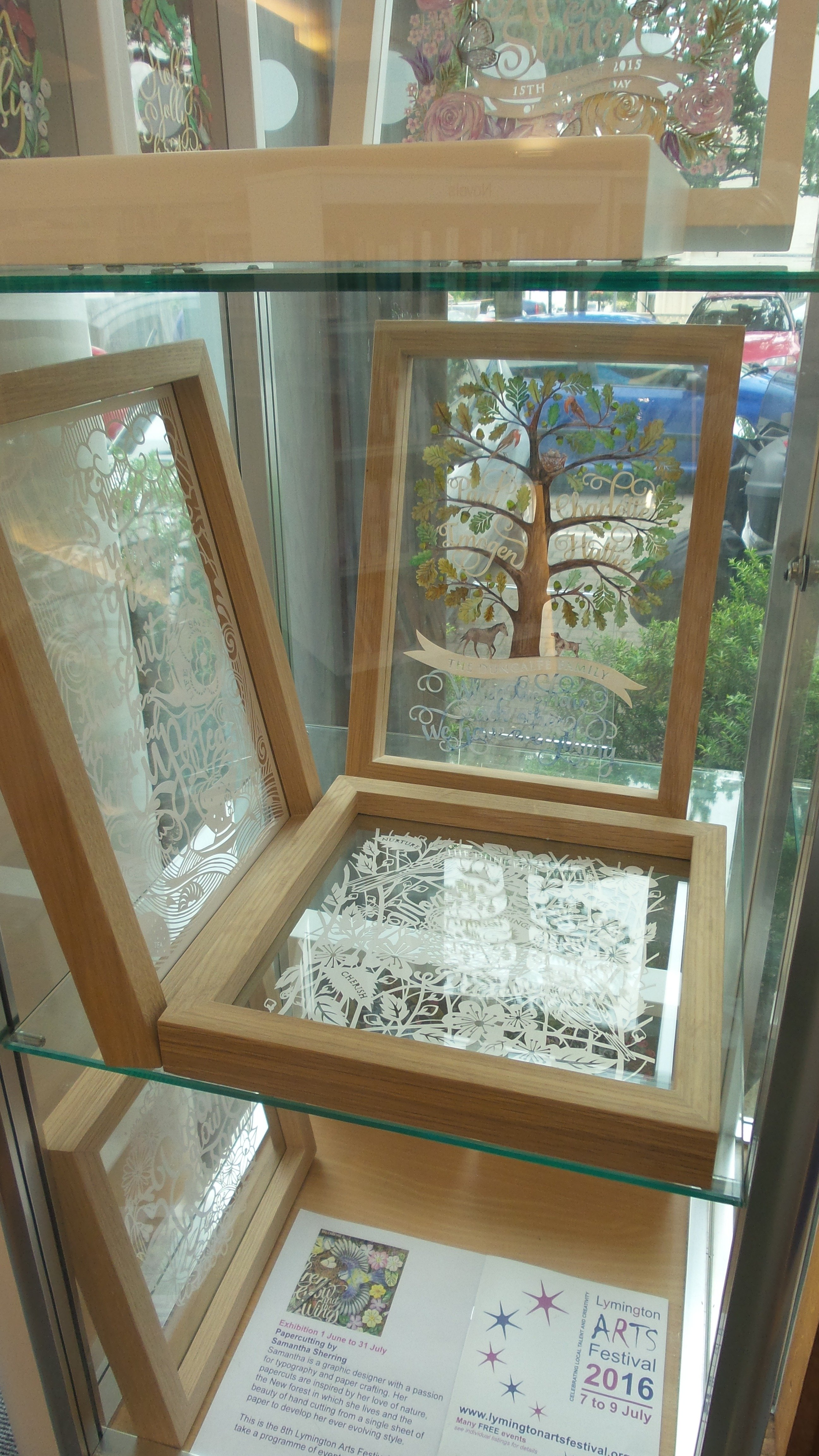 Samantha Sherring's papercrafts at Lymington Library