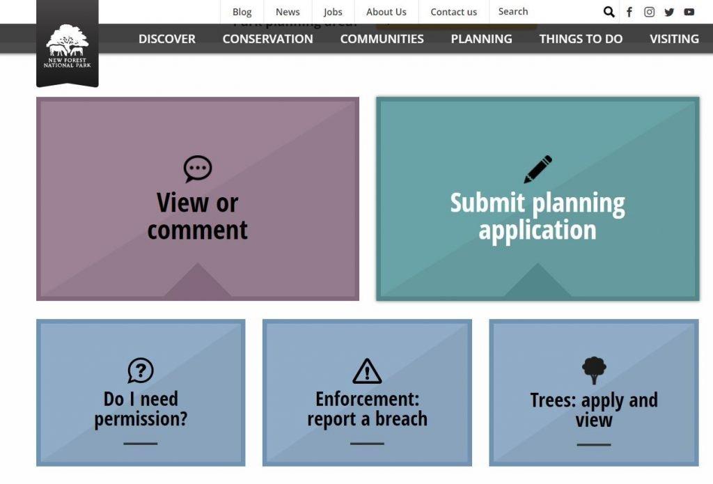 Planning homepage