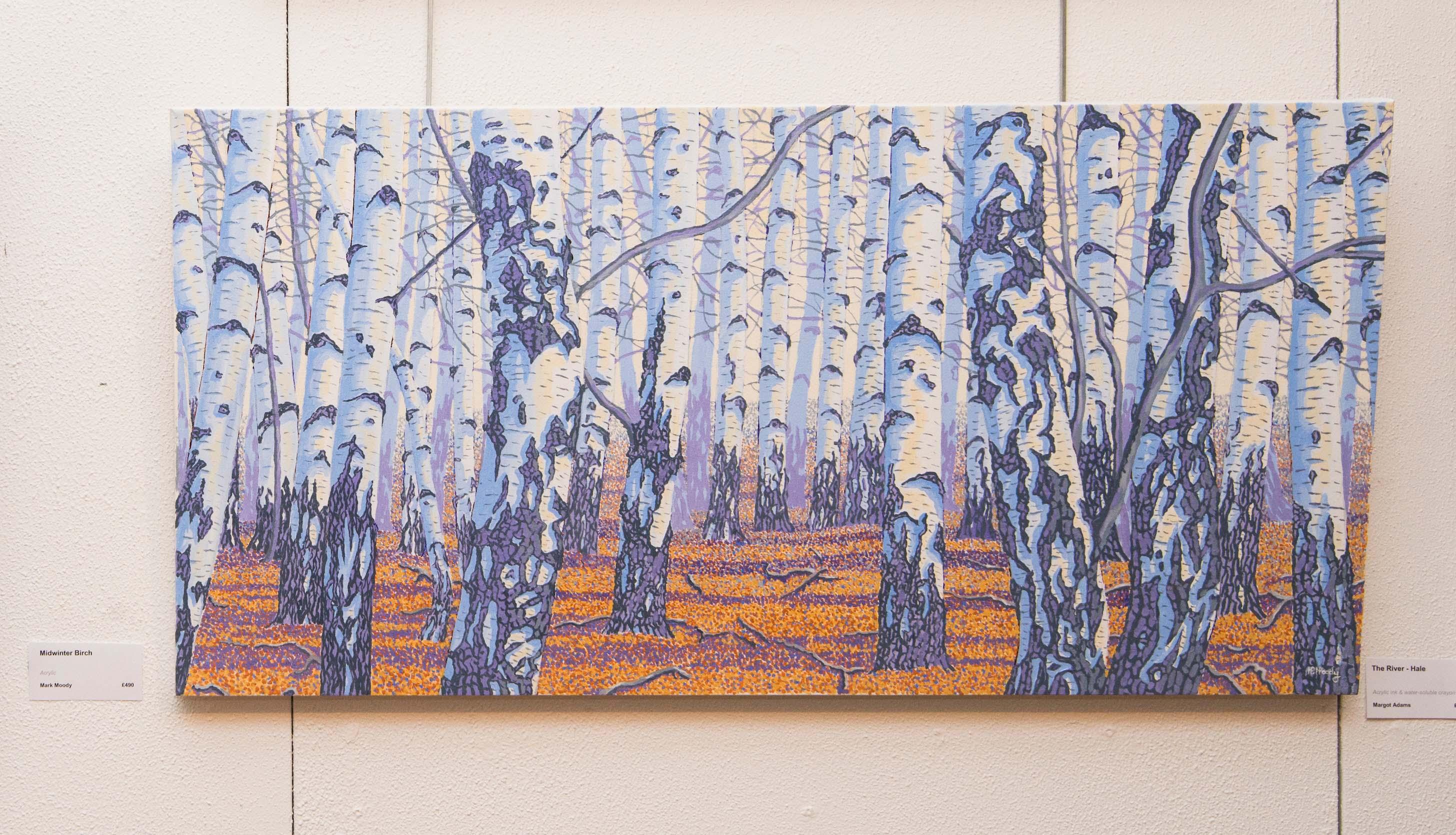 New Forest Open Art people's prize winner 'Midwinter Birch' by Mark Moody