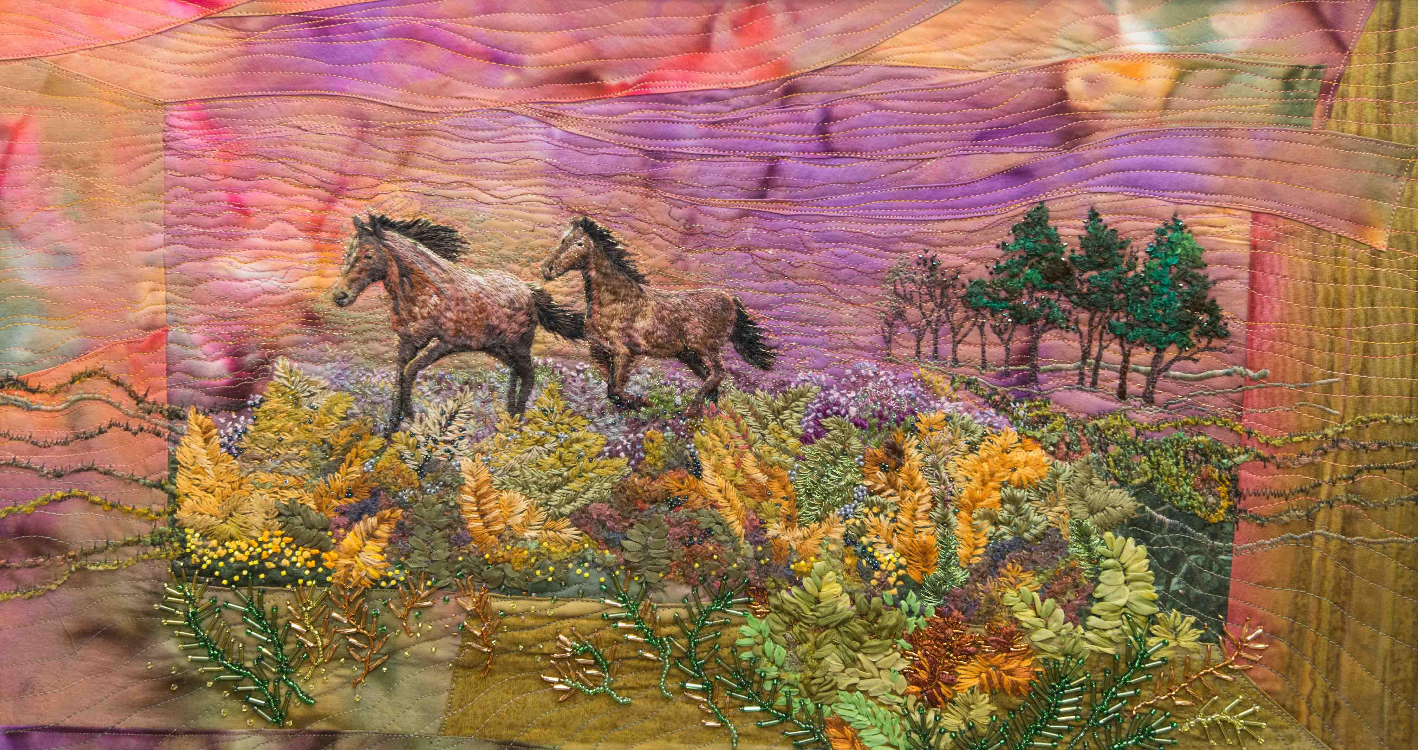 New Forest Open Art people's prize winner 'Running Wild' by Jillian Fry