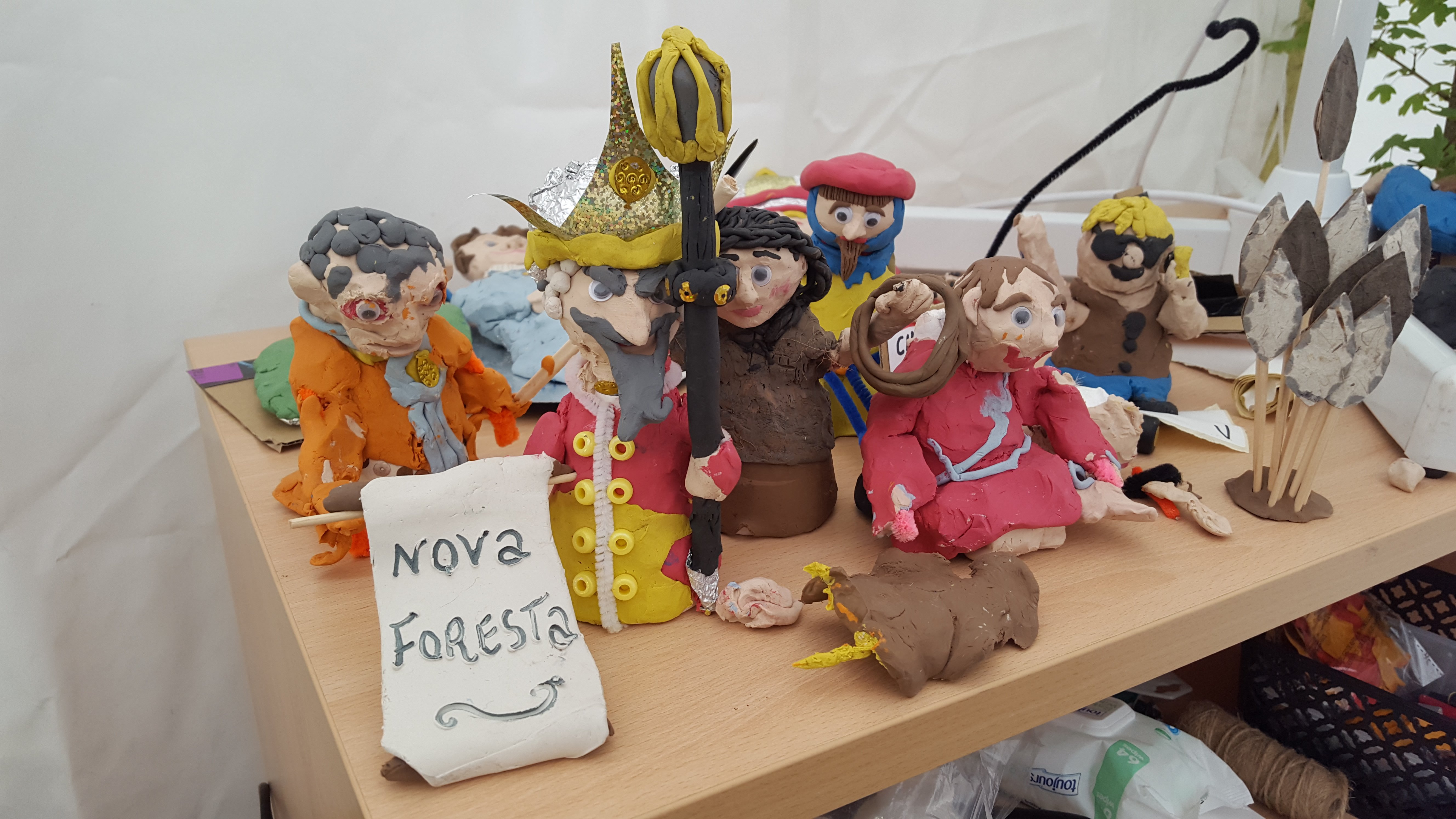 Some of the models from the stop start animation station at the 2017 New Forest Show