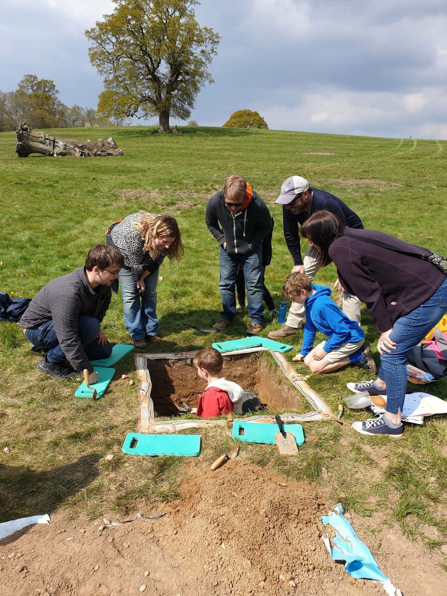 A family taking part in Dig Burley