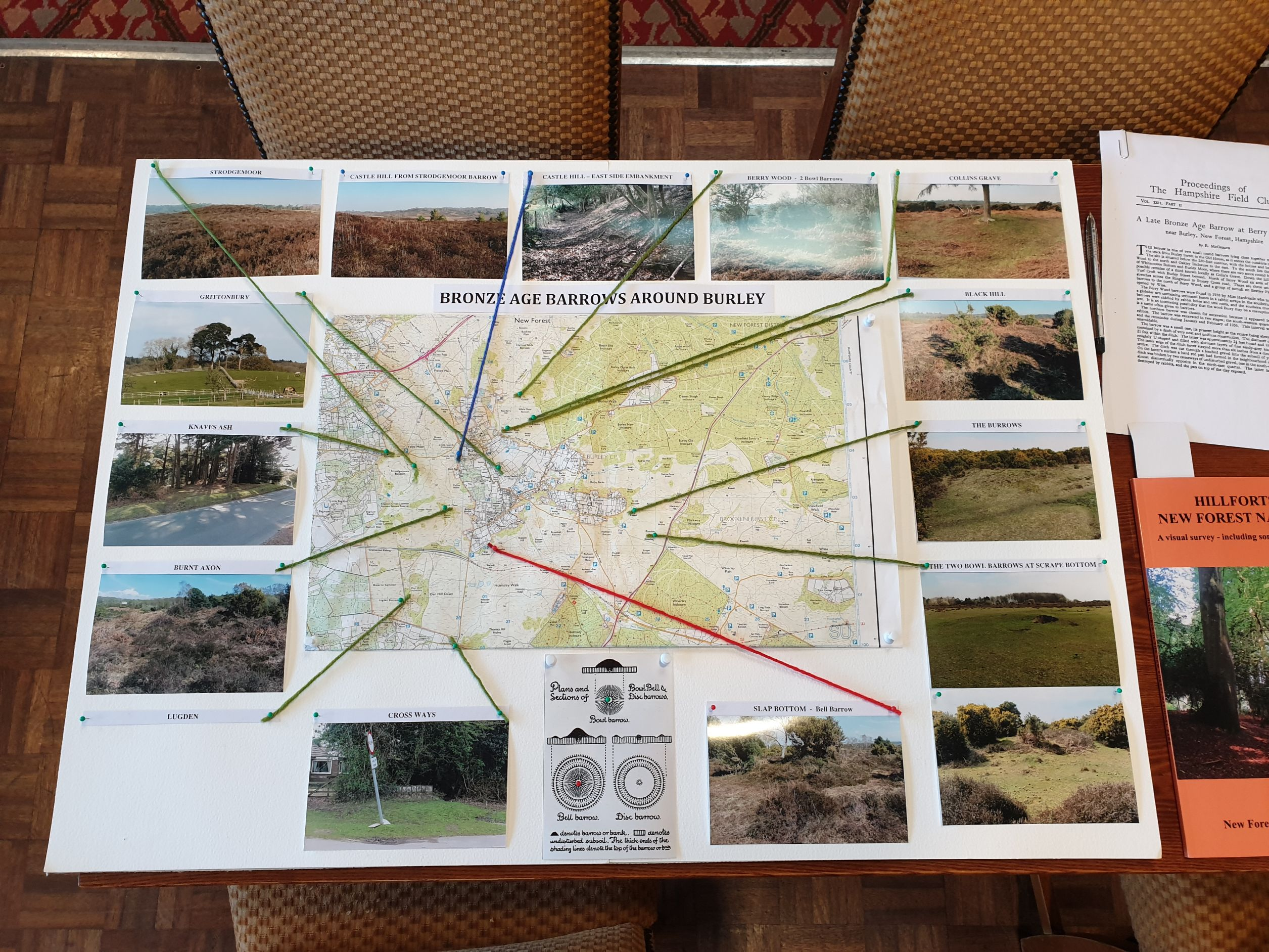 Bronze Age Burial grounds around Burley