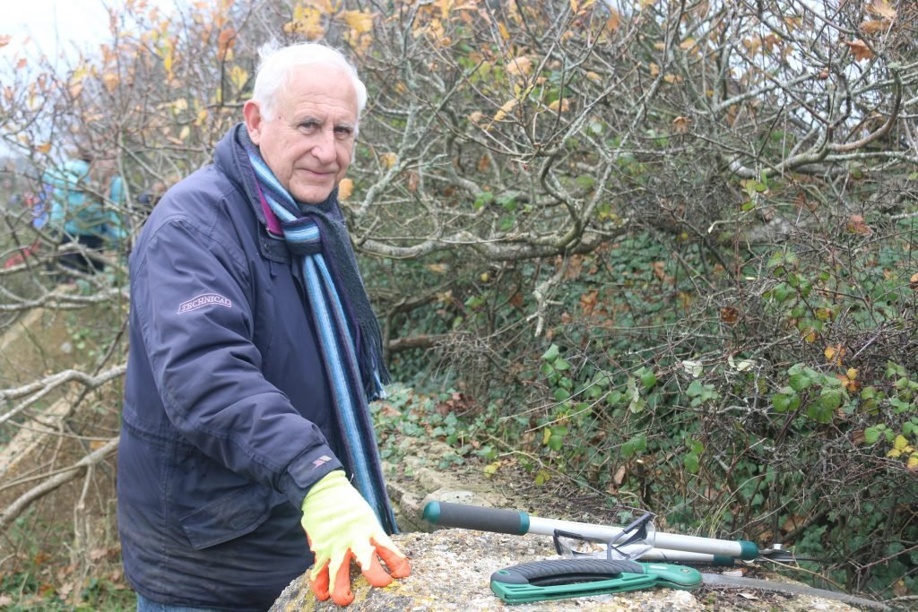 A picture of volunteer Tim Wilding at Lepe
