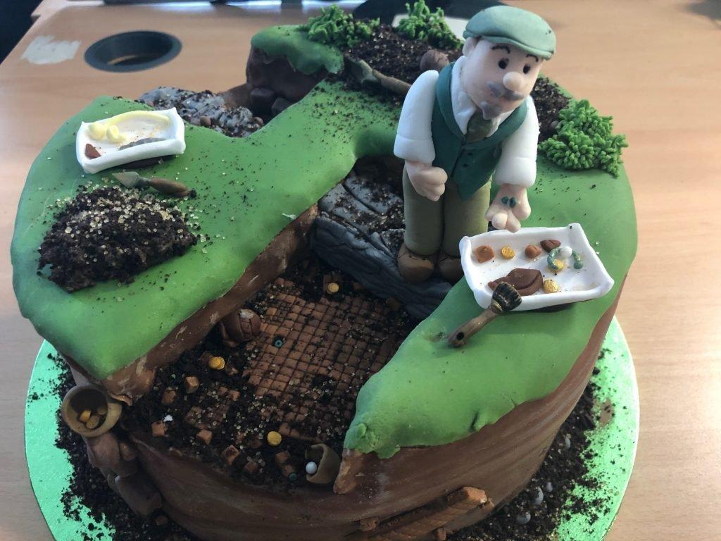 Frank Green retirement cake