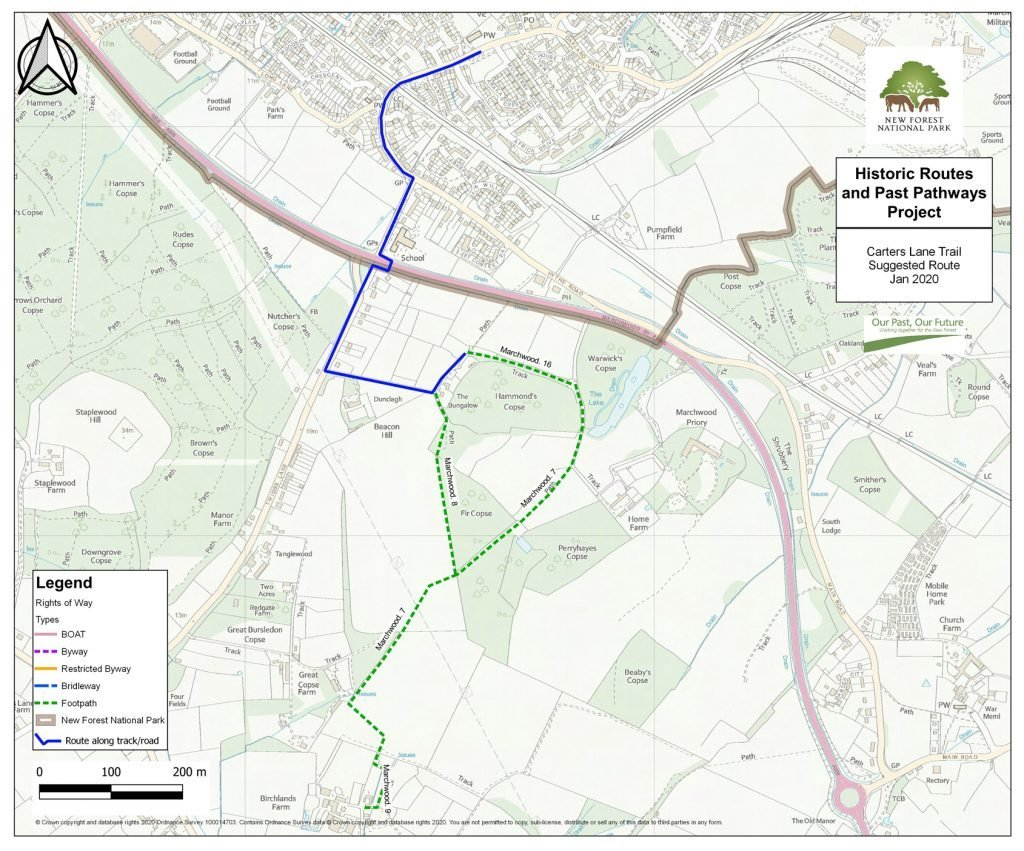 Carters Lane Historic Trail Map