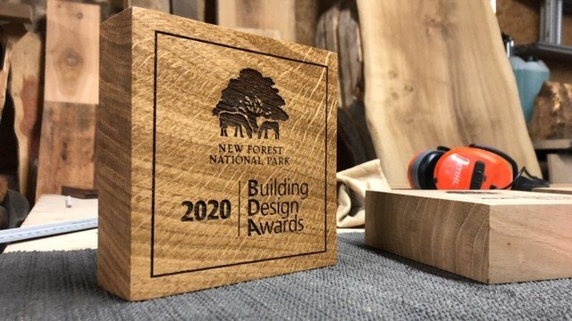 New Forest company BearWood created the awards from local oak