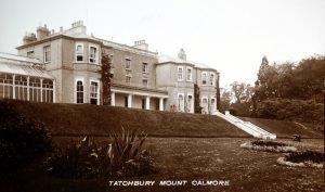 Historic photograph of Tatchbury Mount mansion